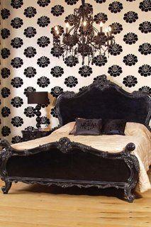 Beautiful bed n chandelier