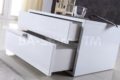 Dolce Left Side Nightstand in White by CasaBianca