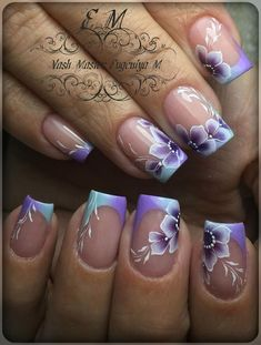 Here are some hot nail art designs that you will definitely love and you can make your own. You'll be in love with your nails on a daily basis. Nail Art French, French Acrylic Nails, French Tip Nails, Best Acrylic Nails, Acrylic Nail Designs, Nail Art Designs, French Tips, One Stroke Nails, My Nails