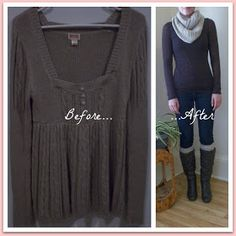 The Thriftiness Miss: Old Sweater to New Winter Wear
