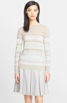 Jason Wu Stripe Mixed Media Sweater available at #Nordstrom