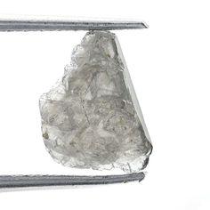 0.43 CARAT ROUGH DIAMOND OUT FROM DIAMOND MINES SILVER NATURAL GEM DIAMOND