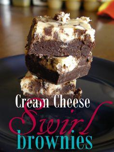 Cream Cheese Swirl Brownies on MyRecipeMagic.com
