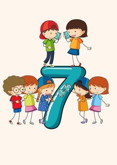 Numbers Preschool, Free Preschool, Math Numbers, Preschool Worksheets, Preschool Learning, Teaching Math, Flashcards For Toddlers, Kindergarten Classroom Setup, English Lessons For Kids
