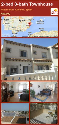 Townhouse for Sale in Villamartin, Alicante, Spain with 2 bedrooms, 3 bathrooms - A Spanish Life Bedroom With Ensuite, Large Bedroom, Fitted Wardrobes, Alicante Spain, Walk In Wardrobe, Spanish House, Restaurant Bar, Dining Area, Townhouse