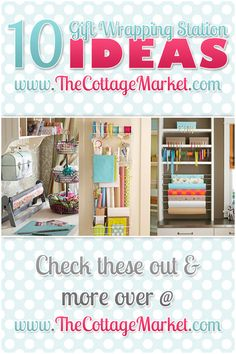 10 Gift Wrapping Station Ideas - The Cottage Market #GiftWrappingStations, #GiftWrappingStationIdeas, #GiftWrappingStorageIdeas