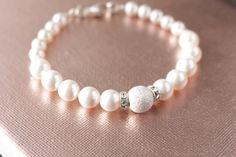 Swarovski Pearl and Silver Stardust by jjensenweddings on Etsy