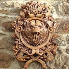 Home Decoration For Halloween Wood Carving Designs, Wood Carving Patterns, Wood Carving Art, Wood Art, Carved Wood Wall Art, Carving Pumpkins, Wax Carving, Wood Carvings, Viking Decor