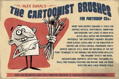 Check out The Cartoonist Brushes for Photoshop by Alex Dukal on Creative Market