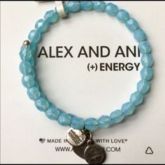 "LAST ONE! Alex & Ani Bohemian Blue Beaded Wrap THIS IS MY VERY LAST ONE LADIES! By Alex & Ani- The "" Bohemian"" Blue Beaded Wrap Bracelet, Crafted in Russian Silver...Brand New, no tags- RETAIL $38.00 Alex & Ani Jewelry Bracelets"