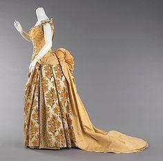 Silk evening ensemble, c 1888. (French) Charles Frederick Worth. Metropolitan Museum of Art.
