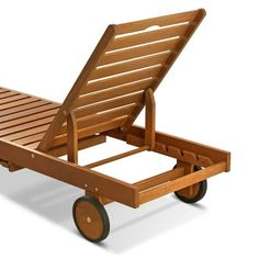 Shop Havenside Home Ormond Outdoor Hardwood Sun Lounger with Tray - Overstock - 17439721 Pool Furniture, Pallet Furniture, Outdoor Furniture, Small Outdoor Spaces, Small Patio, Pool Chairs, Swimming Pools Backyard, Diy Pallet Projects, Patio Table