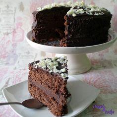 Crispi & Cake: Tarta triple de chocolate con Thermomix