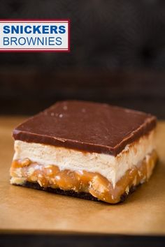 Snickers Brownies - You may look at the ingredients list and directions and think, no way that's too much, but don't. If you like Snickers you've got to try these! Everyone in my family agreed they taste just like a Snickers but with a soft and chewy brownie added in.