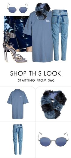 """""""Midnight Blues"""" by astrro on Polyvore featuring Vetements, Fendi, Garrett Leight and Dsquared2"""