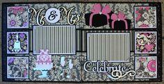 Complete Wedding Album Series - Celebrate 12x12 Double Scrapbook Layout |Faith Abigail Designs