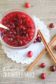 the baker upstairs: homemade cranberry sauce