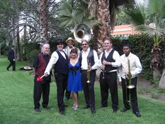 At this wedding, we hired a New Orleans Jazz Band to add to the theme of this spectacular celebrity wedding in Pasadena, CA