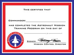 nasa employee certificate - photo #7
