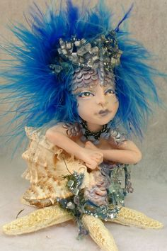 Blue Sea Nymph OOAK Fairy with Starfish  http://cgi.ebay.com/ws/eBayISAPI.dll?ViewItem=151039598049