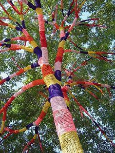 Les arbres au crochet de la fabuleuse américaine Carol Hummel