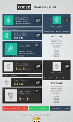 Coder Email Signature Template PSD. Download here: http://graphicriver.net/item/coder-email-signature/14449902?ref=ksioks
