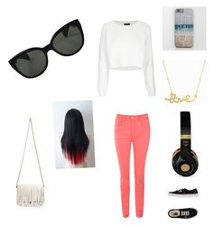 summer day out by ryleesand on Polyvore featuring polyvore, beauty, Oliver Peoples, Minnie Grace, Proenza Schouler, Topshop, Jane Norman, Vans and MCM