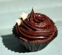 Chocolate fudge icing cupcake