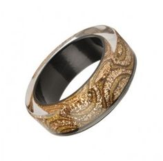 Gold Glitter Wave Resin Bangle, Nicholas King at EC One