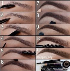 Here's a method of darkening your eyebrows and highlighting the line. Coloring in your eyebrows helps them stand out with all the ballroom and latin makeup. Visit http://ballroomguide.com/comp/hair_make_up.html for more hair and makeup info