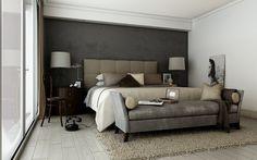 modern minimalist blue gray bedrooms | modern gray modern style bedroom design ideas: minimalist gray bedroom ...