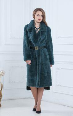 textured mink fur coat
