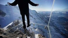 """FRANCE – """"Step into the Void"""" Aiguille du Midi Skywalk at the top of Aiguille du Midi peak, Mont Blanc massif, French Alps. The cable car is from Chamonix, Haute-Savoie, Auvergne-Rhône-Alpes. Tokyo Skytree, Places To Travel, Places To See, Scary Places, Grand Canyon, France National, Chamonix Mont Blanc, National Geographic Travel, Paris Match"""