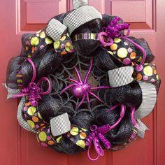 SPOOKtacular Spider Halloween Wreath