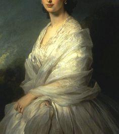 """Portrait of Countess Sophia Bobrinskaya"" (1857) (detail) by Franz Xaver Winterhalter (1805-1873)."