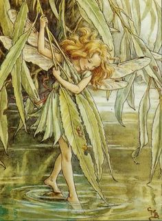 The Willow Fairy by Cicely Mary Barker - she used to hang next to my bed when I was little