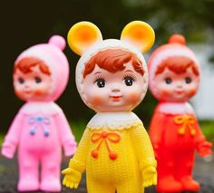 Popje Woodland doll geel
