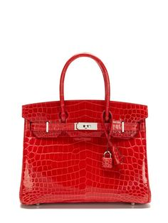 Hermès Bougainvillier Shiny Nilo Crocodile Birkin 30cm ♥✤ | Keep the Glamour | BeStayBeautiful