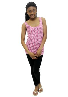 Pretty Girl - Pink Printed Basic Tank, $2.99 (http://www.shopprettygirl.com/pink-printed-basic-tank)