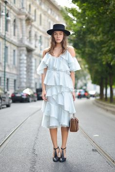 A tiered dress that's full of texture