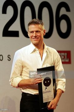 Singer Bryan Adams smiles during the LEAD Awards 2006 at the Deichtorhallen on March 15, 2006 in Hamburg, Germany. Adams, who takes a photo story of Mickey Rourke received the award for best portraiture.