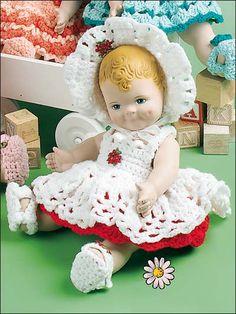 "Becky -Fits 12"" doll. Crocheted using WW yarn. Skill Level: Intermediate…"