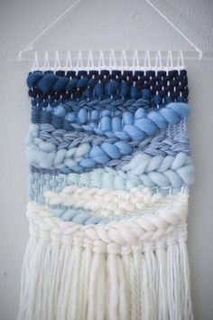Blue Ombre wall hanging Weave MTO woven wall hanging