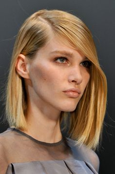 sleek & side-swept at guy laroche spring 2014
