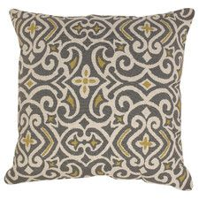 Damask Polyester Throw  Pillow