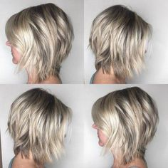 Different Types of Bobs Bob haircuts are ultra-trendy and flatter almost anyone. but did you ever wonder what the difference between an inverted bob, graduated bob, a-line haircut, and other types of bobs were? Asymmetrical Bob Haircuts, Inverted Bob Hairstyles, Medium Bob Hairstyles, Hairstyles Haircuts, School Hairstyles, Wedding Hairstyles, Pixie Haircuts, Layered Haircuts, Celebrity Hairstyles