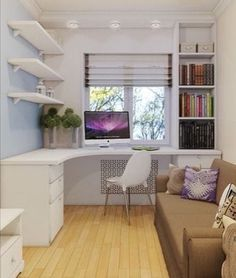 Children - New Deko Sites Small Room Design, Home Room Design, Kids Room Design, Home Office Design, House Design, Design Offices, Office Designs, Guest Bedroom Office, Small Room Bedroom