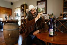 As a man of taste and refinement, Buffalo Bill always enjoys a glass of Feather River Vineyard wine when he's in town.
