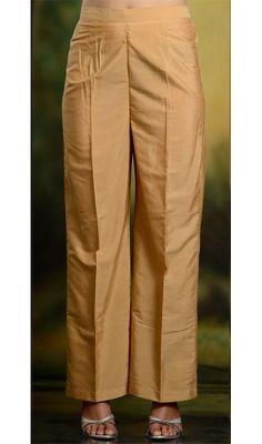 palazzo pants - 4 Stars & Up / Bottom Wear / Ethnic Wear: Clothing & Accessories Churidar Designs, Kurti Neck Designs, Blouse Designs, Dress Designs, Silk Pants, Trouser Pants, Salwar Pants, Salwar Kameez, Straight Cut Pants