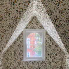 """P H I L A M E N A . on Instagram: """"Pretty eaves bedroom for a little girl, awaiting blinds & wall lights 🕊"""""""